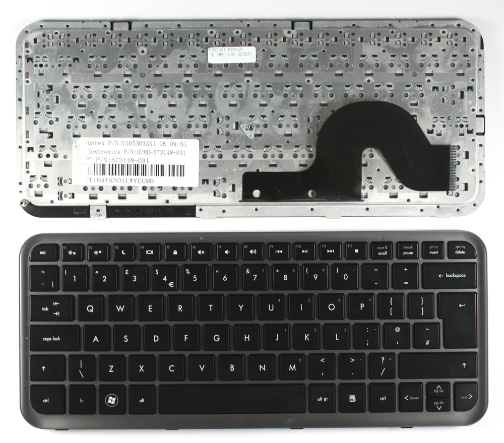 HP Pavilion dm3-1123tx Glossy Black UK Layout Replacement Laptop Keyboard